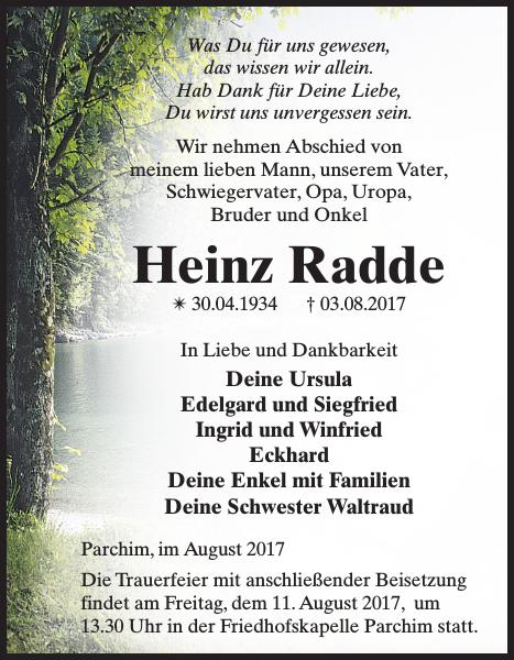 Schweriner Volkszeitung Trauer