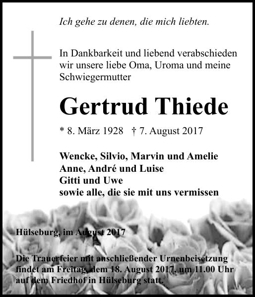 Hagenower Kreisblatt Traueranzeigen