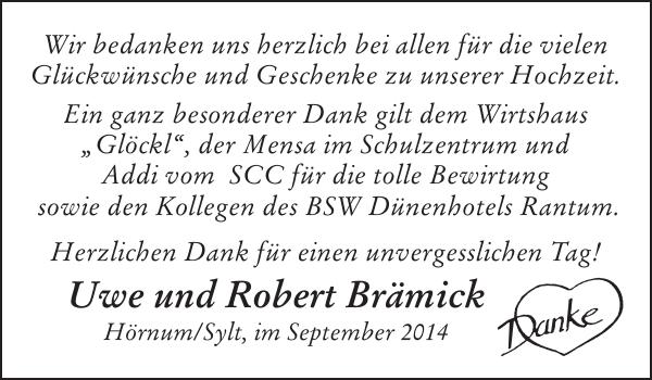 Uwe Und Robert Brämick Hochzeit Sylter Rundschau