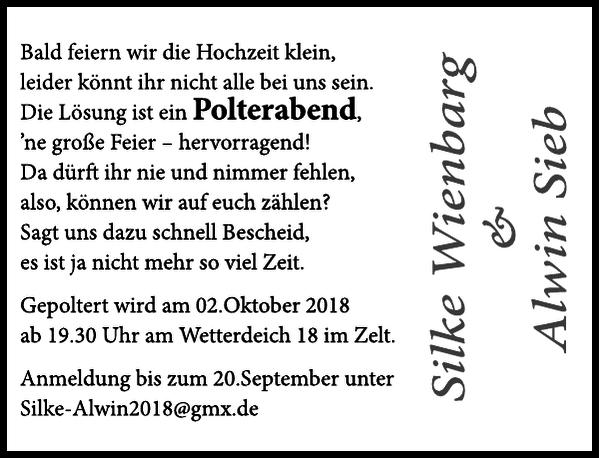 Wienbarg Hochzeit Cuxhavener Nachrichten