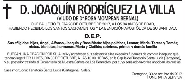 D Joaquín Rodríguez La Villa Esquela La Opinión De Murcia