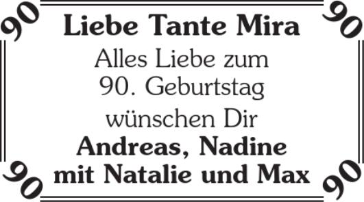 Liebe Tante Mira Geburtstag Stader Tageblatt