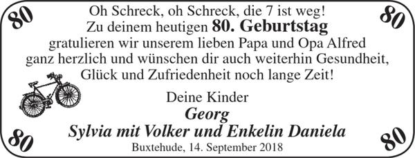 Lieber Papa Und Opa Alfred Geburtstag Stader Tageblatt