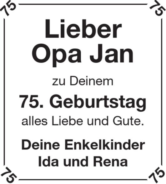 Lieber Opa Jan Geburtstag Stader Tageblatt