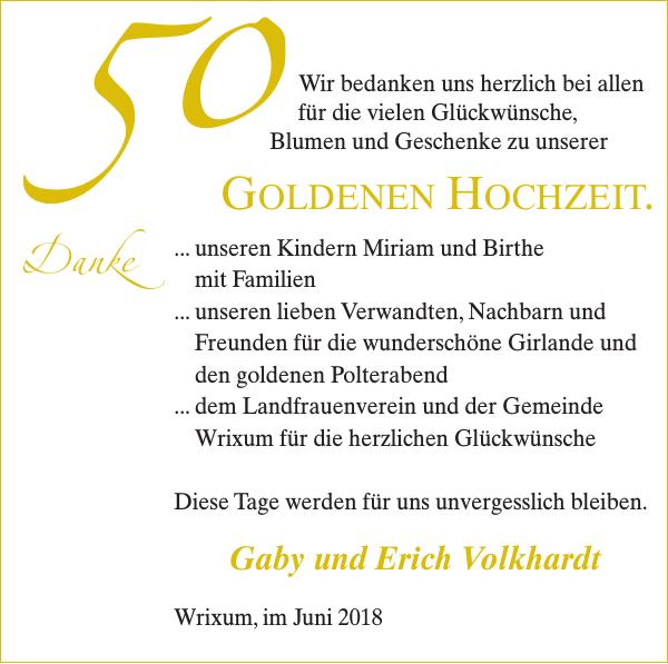 50 Goldenen Hochzeit Gaby Und Erich Volkhardt Goldene Hochzeit