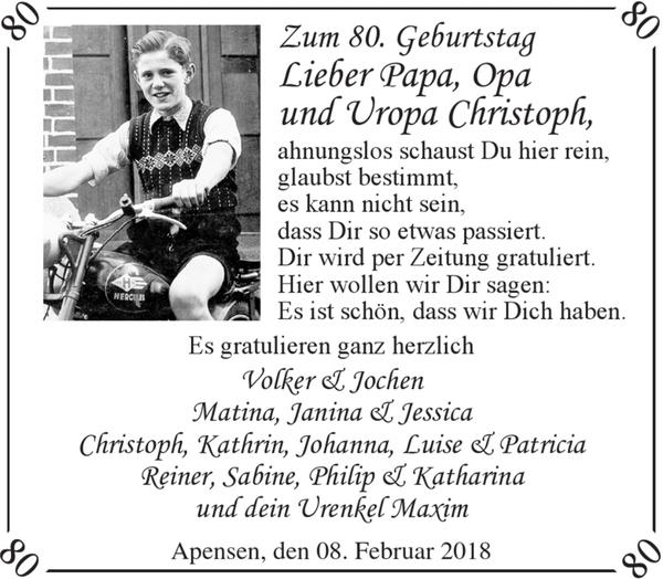 Zum 80 Geburtstag Lieber Papa Opa Und Uropa Geburtstag Stader