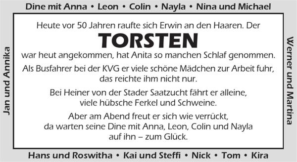 Torsten Geburtstag Stader Tageblatt