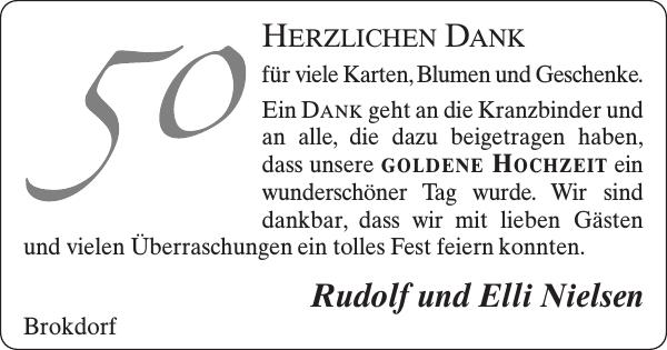 Rudolf Und Elli Nielsen Goldene Hochzeit Norddeutsche