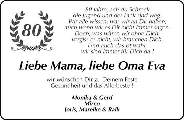 Liebe Mama Liebe Oma Eva Geburtstag Stader Tageblatt
