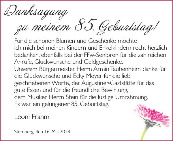Danksagung Zu Geburtstag Danke Anzeiger Fur Sternberg Bruel