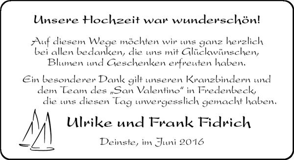 Ulrike Und Frank Fidrich Danke Stader Tageblatt