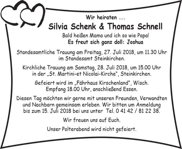 Silvia Schenk Und Thomas Schnell Hochzeit Stader Tageblatt