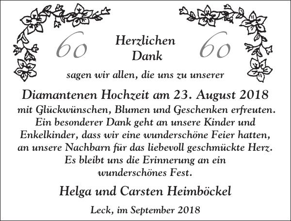 August Helga Und Carsten Heimbockel Danke Flensburger Tageblatt