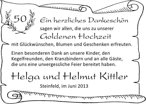 Helga Und Helmut Kittler Danke Zevener Zeitung