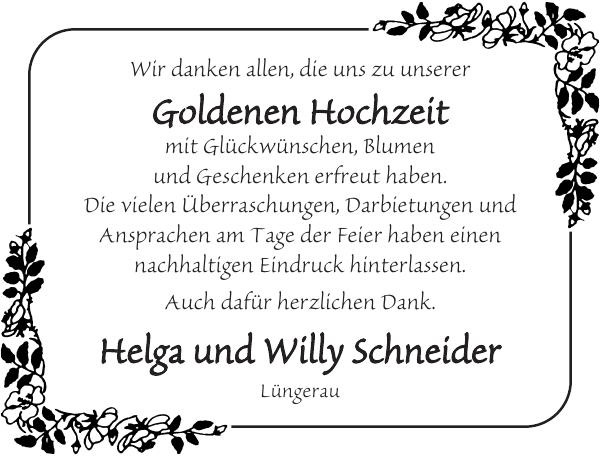 Helga Und Willy Schneider Goldene Hochzeit Flensburger