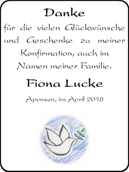 Danke Für Die Vielen Glückwünsche Und Geschenke Fiona Lucke