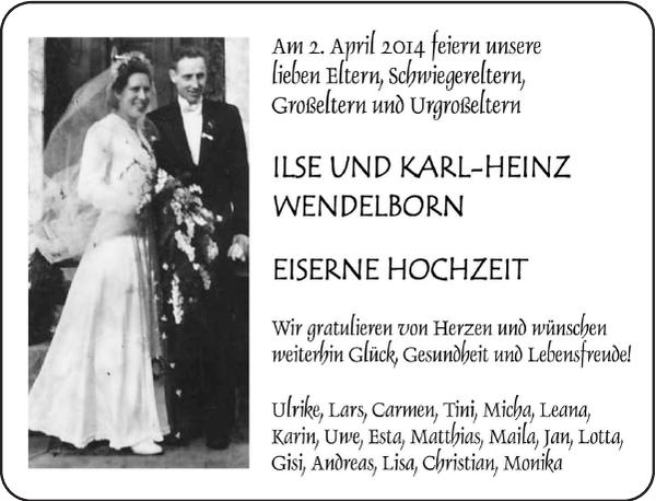 Am 2 April 2014 Feiern Unsere Lieben Eltern Goldene