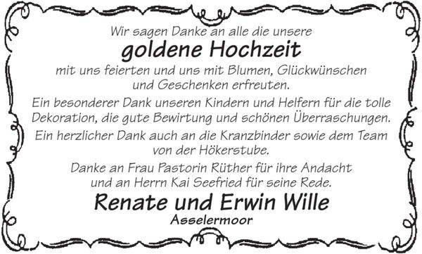 Renate Und Erwin Wille Goldene Hochzeit Stader Tageblatt