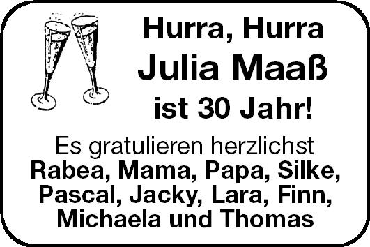 Julia Maaß Geburtstag Stader Tageblatt
