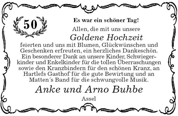 Anke Und Arno Buhbe Goldene Hochzeit Stader Tageblatt
