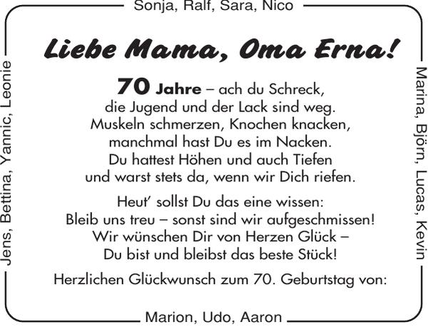 Oma Erna Geburtstag Cuxhavener Nachrichten