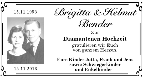 Brigitta Und Helmut Bender Goldene Hochzeit Stader Tageblatt