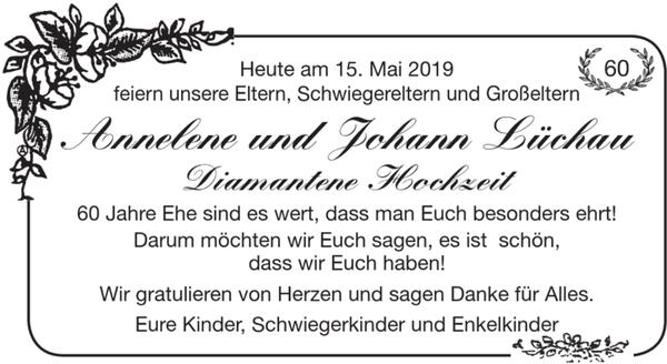 Annelene Und Johann Lüchau 60 Diamantene Hochzeit Goldene
