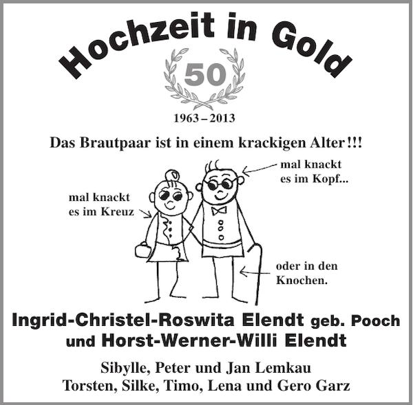 Goldene Hochzeit Elendt Goldene Hochzeit Stader Tageblatt