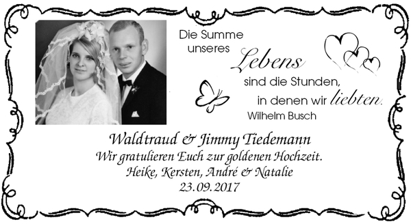 Wilhelm Busch Goldene Hochzeit Die Besten Verse Und