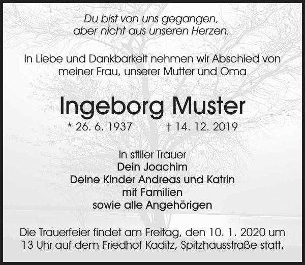 Traueranzeigen Von Elisabeth Mustermann Geb 8