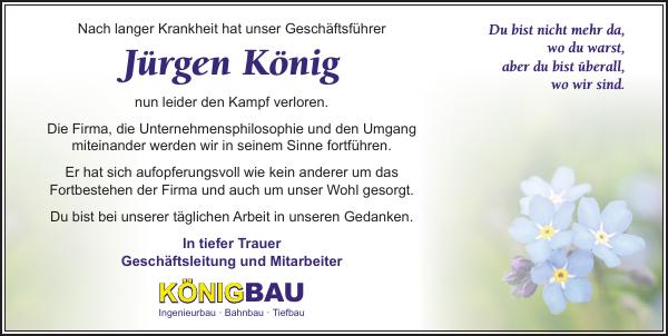 Jurgen Konig Traueranzeige Sachsische Zeitung