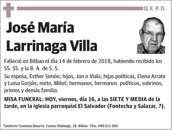 Esquela De José María Larrinaga Villa Esquela Esquela En El Correo