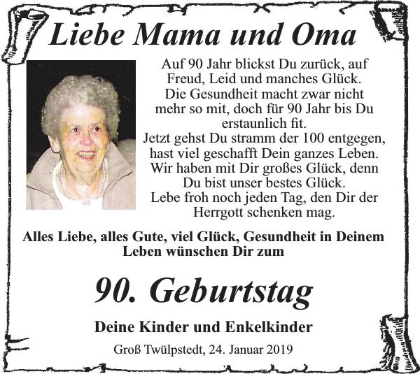 Oma 90 geburtstag wunsche